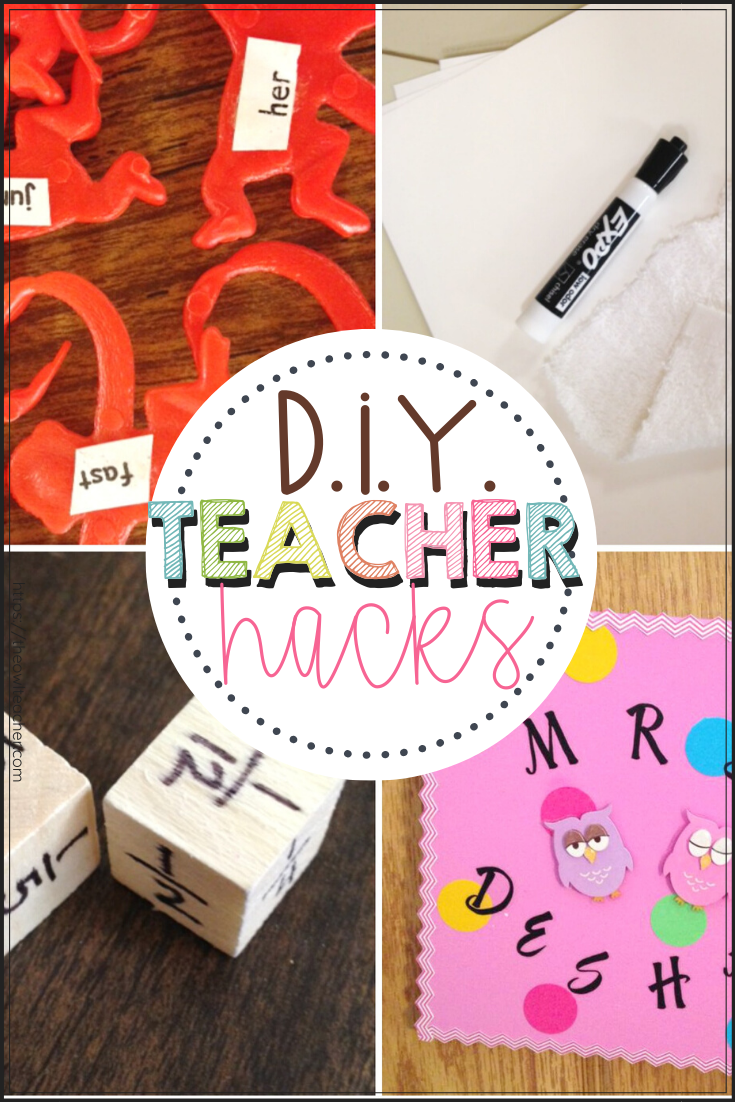 Looking for some cute ideas and crafts that can be used in your elementary classroom - all while saving you money? Look no further. I have a few DIY teacher hacks just for the elementary teacher!