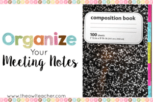 Organize Your Meeting Notes2x3