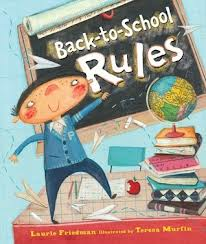 """Picture book with the text """"Back-to-School Rules"""""""