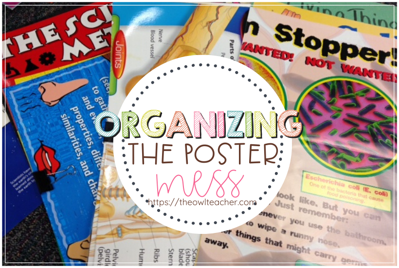 Five quick and easy steps to help you with organizing posters in just a few minutes! Check out this idea!