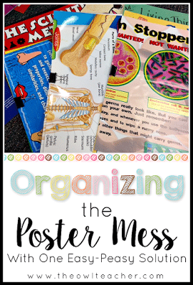 5 quick and easy steps to help you organize your classroom anchor charts and posters in just a few minutes! Check out this idea!