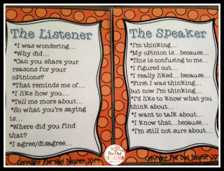 """Conversation Cards with the text """"The Listener"""" and the text """"The Speaker"""""""