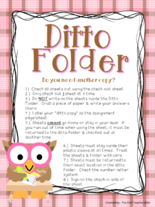 Ditto Folder: This will help you with the extra copies problem!