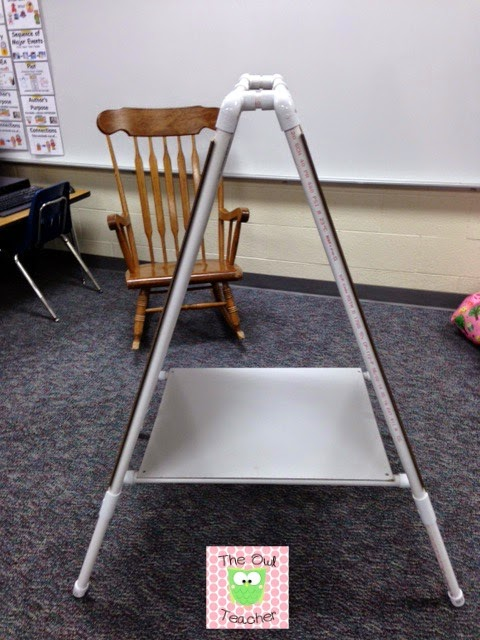 Diy Easel For Your Classroom The Owl Teacher