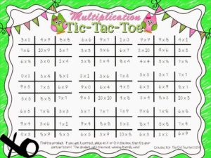 Here is a FREE Tic-Tac-Toe to practice multiplication facts!