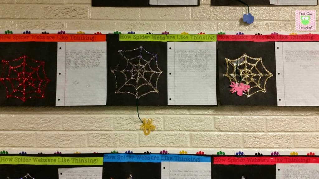Thinking strategies related to spiders or halloween. Makes a great bulletin board.