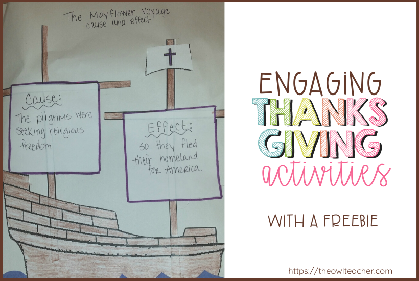 Engage your students this Thanksgiving with these fun activities while practicing cause and effect! Grab a freebie too!