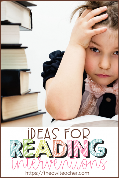 Do you have students who struggle with reading fluency and decoding? Use these ideas and strategies for reading interventions to help your reader move up in reading levels!