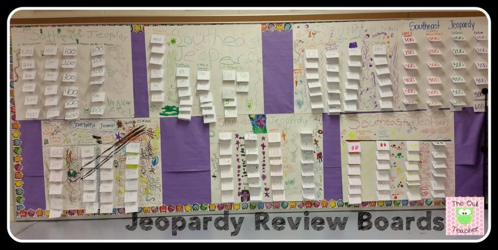 Jeopardy review activity for any subject- project