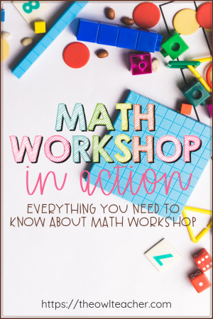 What do students do after you have given the mini-lesson in math workshop? Guided math! Check out these tips and ideas about math workshop in action, including rotations and understanding math centers!