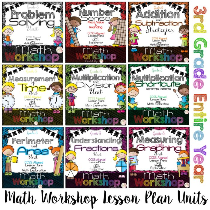 Check out my Math Workshop Lesson Plan Units for the ENTIRE YEAR of 3rd grade!