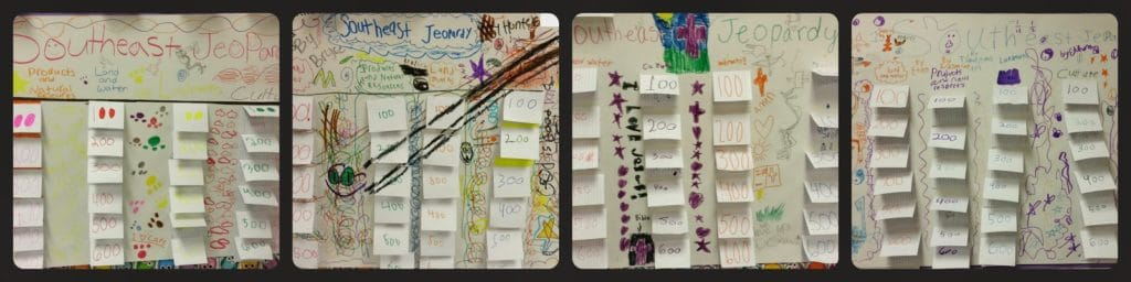 Completed cooperative learning posters