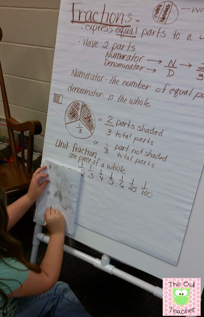 Guided math activities in action.