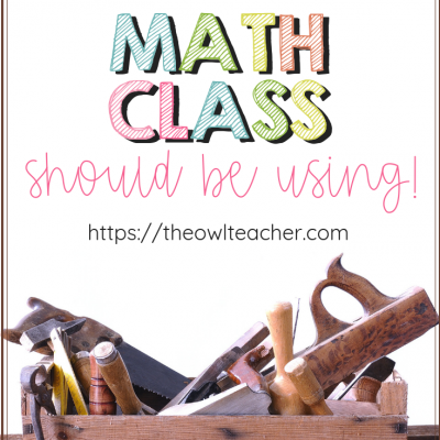 Check out these math tools that every elementary math classroom should be using! Are you using them?