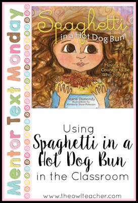 Spaghetti in a Hot Dog Bun is a perfect mentor text for teaching children about bullying! It's also great for teaching about point of view, plot, author's purpose, and story elements!
