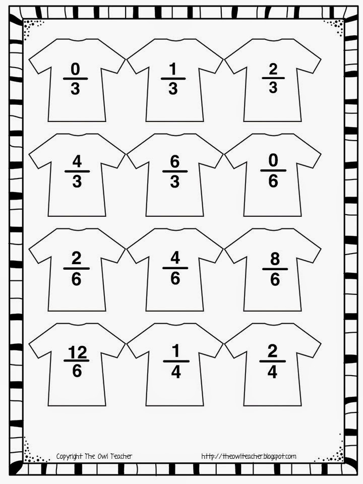 Click here to download my FREE hands-on fractions clothesline sheet!
