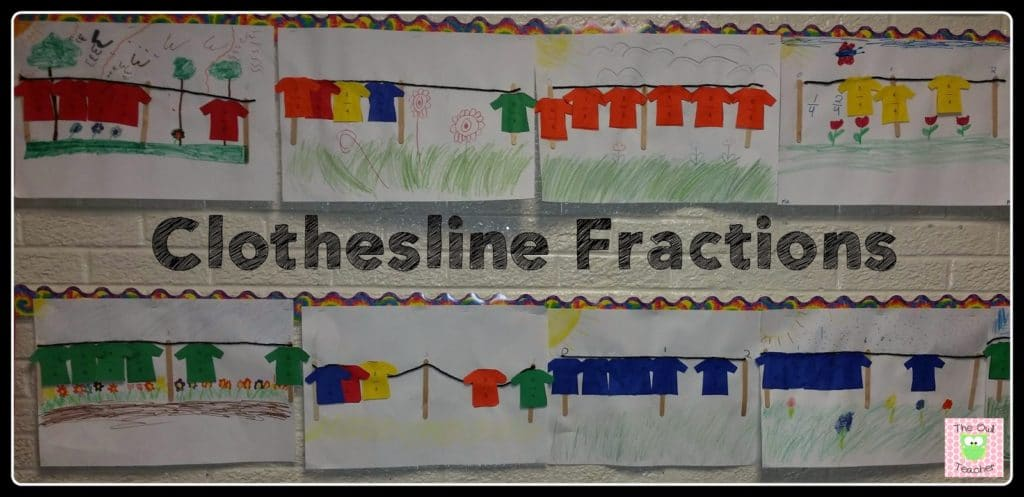 Make teaching number line fractions hands-on and fun with this elementary activity idea! It also makes for a great display of hands-on fractions!