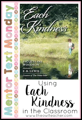 If you are looking for a mentor text to create a touching mood while teaching about treating others kindly, look no further! This book can be used to teach making connections in reading and to bring discussion in the classroom.