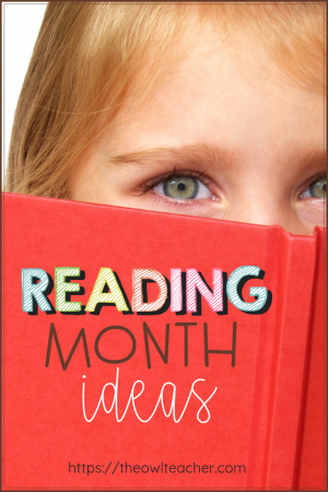 Are you looking for some reading month ideas? Check out this post where a teacher describes just what she did during this all important month!