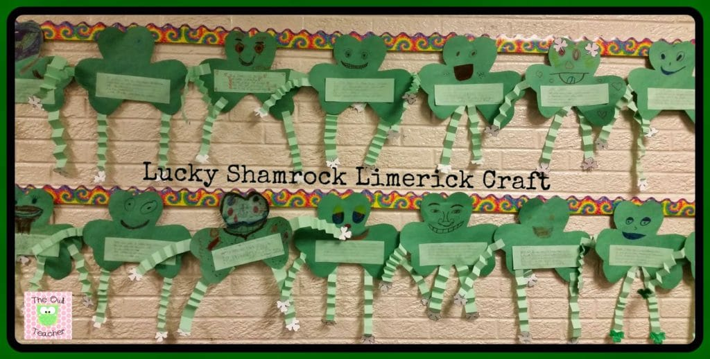 Are you looking for an engaging activity for St. Patrick's Day for your elementary classroom? Check out this idea where students create a shamrock craft and add poetry- limericks- to it!