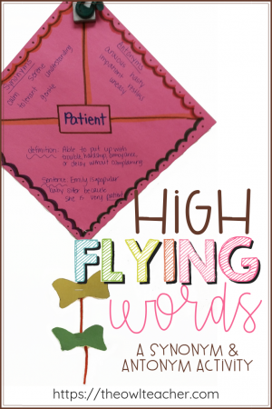 This fun activity is a great way to get students thinking about word knowledge, including the idea of synonyms and antonyms, along with increasing student engagement.