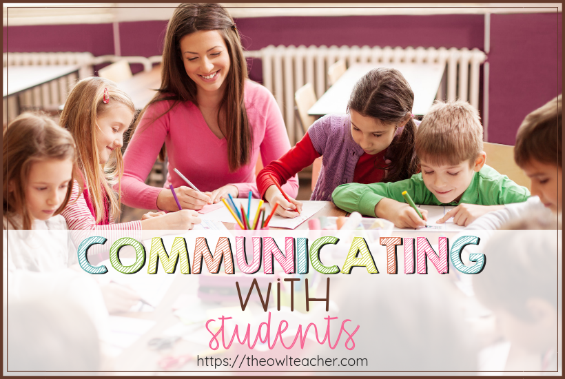 Check out these five ideas on communicating with students! These communication tips will help your classroom management techniques be more positive and inviting!