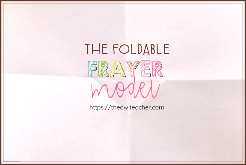 Save time and copies with this quick and simple foldable idea for using the frayer model as a graphic organizer in your elementary classroom! It will make your teaching ideas more engaging!