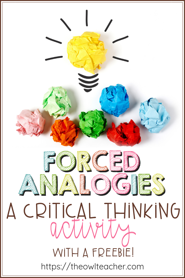 This critical thinking activity is all about getting your students to think deeper and to synthesize in your elementary classrooms! Students will love this engaging activity!