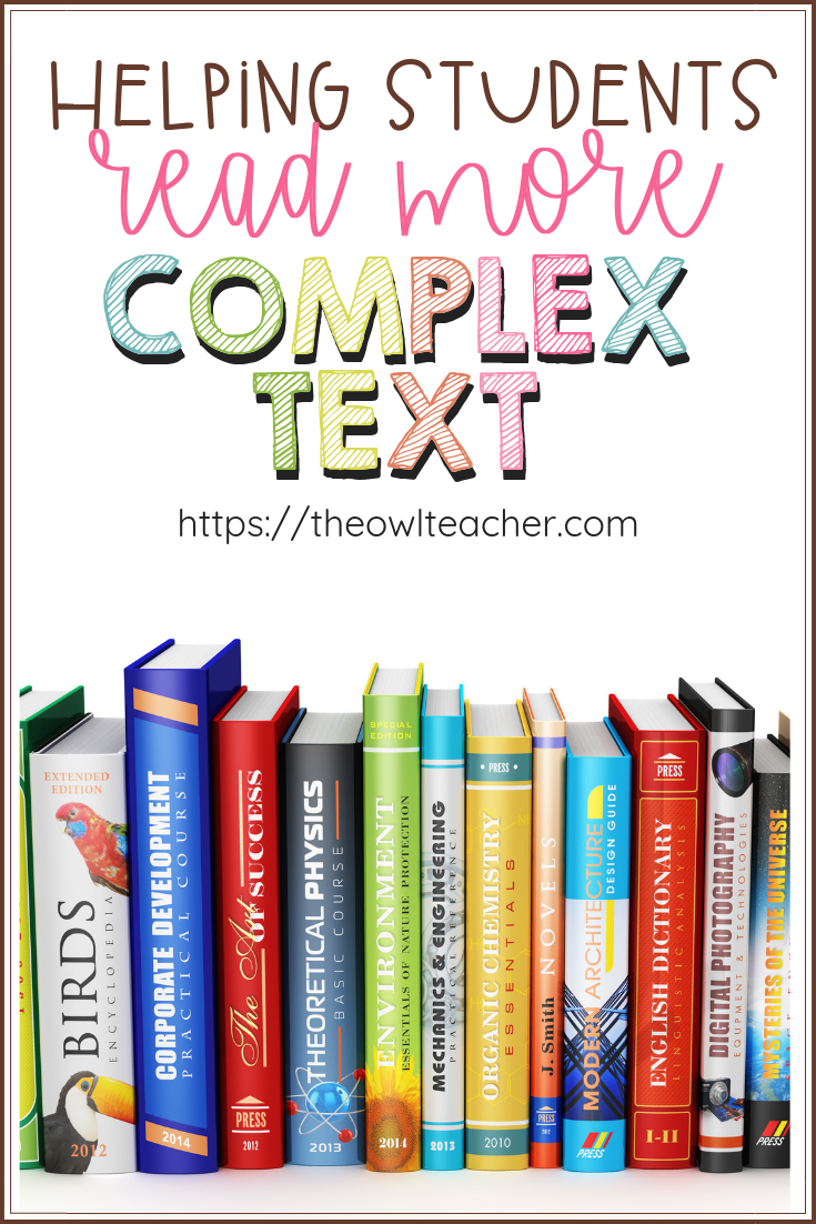 The Common Core Reading Standards say that when we teach reading we need to make sure students are reading books with text complexity! How can we do that? With these ideas and tips of course! (Plus there is a freebie to get your students started!)