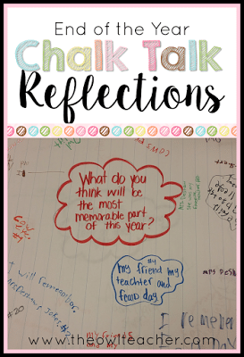 The end of the school year can get pretty crazy! Teachers are always looking for activities and ideas to keep students engaged in the classroom! Why not try chalk talk reflections?