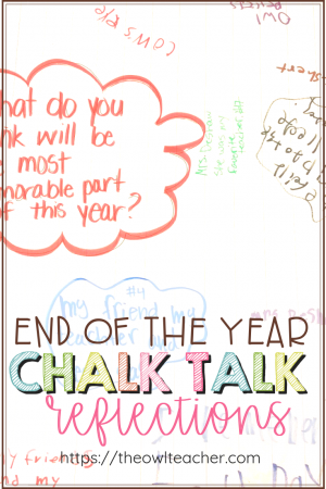 The end of the year can get pretty crazy! Teachers are always looking for activities and ideas to keep students engaged in the classroom! Why not try chalk talk reflections?