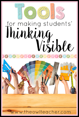 We use tools in our classroom that help encourage our students' thinking -- but are you making their thinking visible? We use anchor charts and other strategies, but are you doing all of these? There's one way to find out!