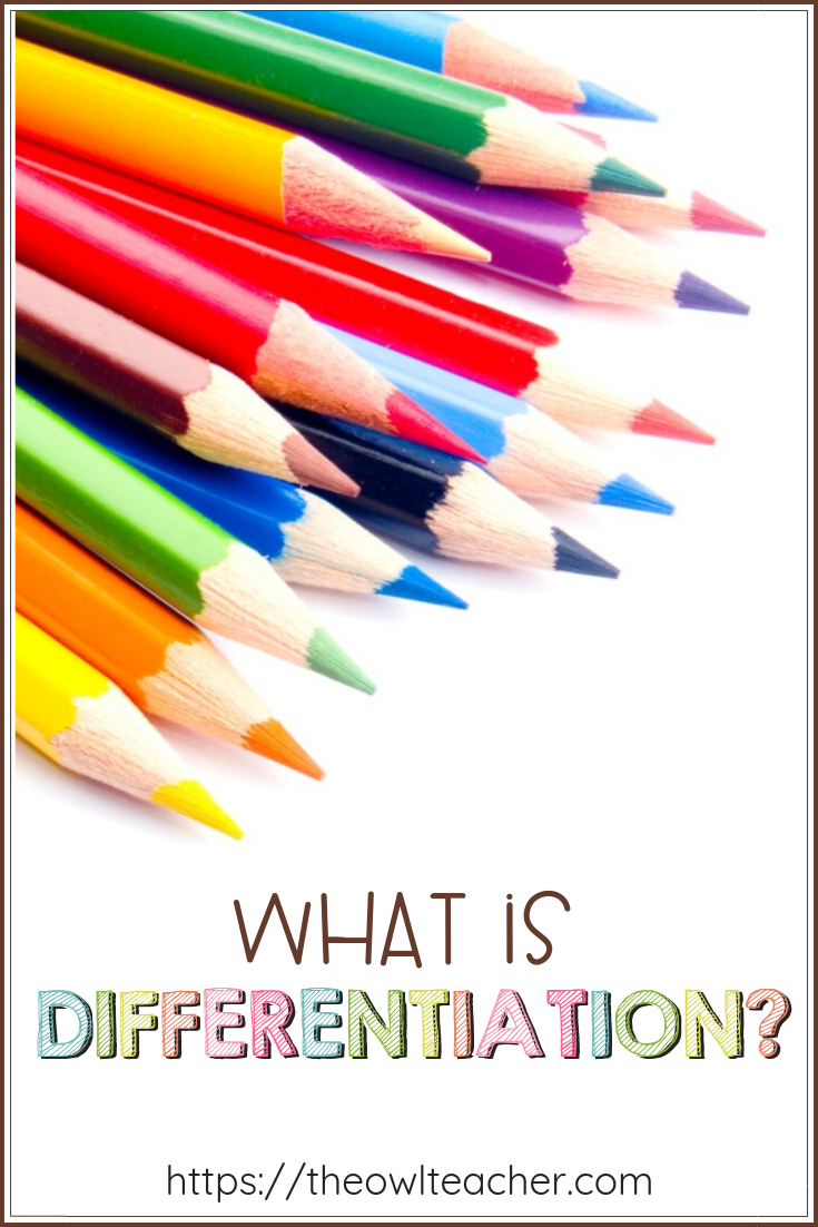 What is differentiation? That word is utilized all throughout elementary classrooms, yet just what is it and how do we teach with differentiation in mind?