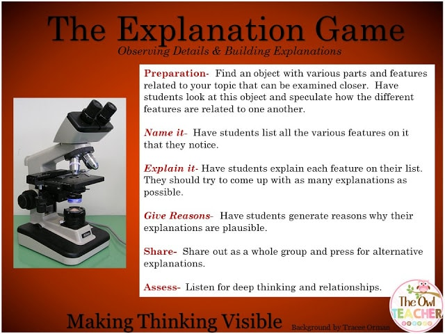 The Explanation Game Thinking Routine