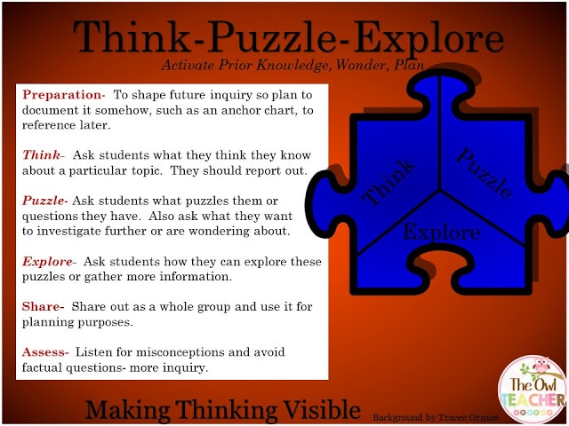 Think puzzle explore thinking routine