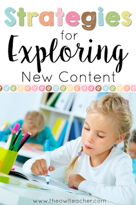 Do you need some new, engaging strategies to help your students explore new ideas in your content area? This blog post has several strategies that will engage your students and get them thinking!