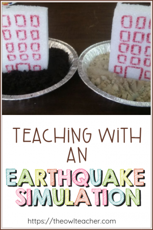 Help your students understand fast and slow changes of the earth through this hands-on science experiment where students explore earthquakes and different foundations. Head to this blog post about this engaging idea of an earthquake simulation!