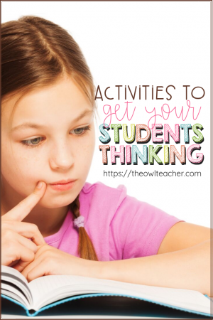Your students will LOVE these thinking strategies for any subject area you teach in your elementary classroom! Check these thinking routines and ideas out here!