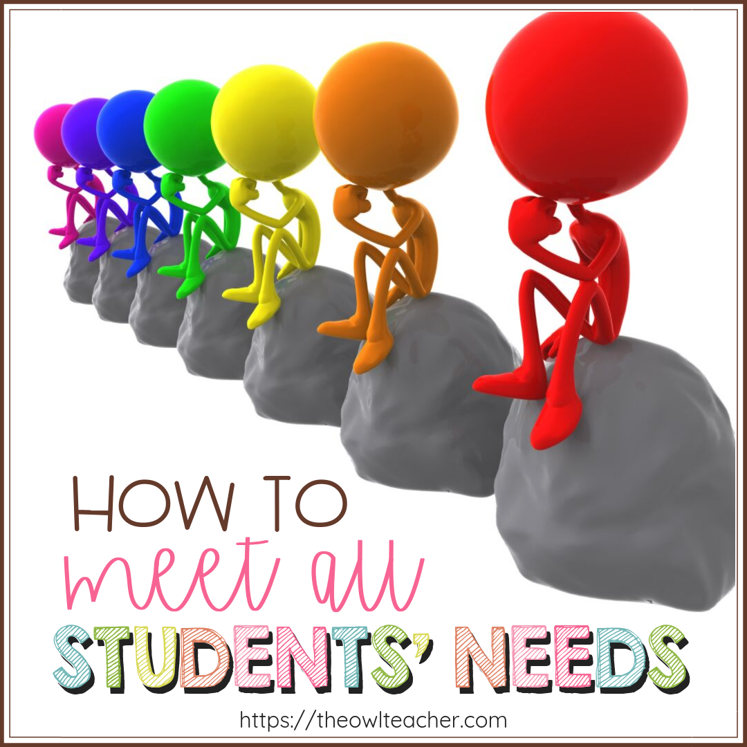 With our classrooms and students as diverse as ever, we need to figure out ways to differentiate and meet all students' needs. Check out these ideas and tips to help you!