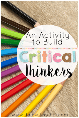 Teach your students to use critical thinking with this activity that is guaranteed to use higher order thinking (HOTS). And BONUS- this strategy is perfect for any elementary content area too!
