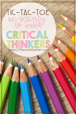 Teach your students to use critical thinking with this activity that is guaranteed to use higher order thinking (HOTS). And BONUS: this strategy is perfect for any elementary content area too!