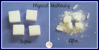 Do you want some engaging hands-on, science experiments to teach your elementary students about physical and chemical weathering?  Look no further!  Check out these science ideas!