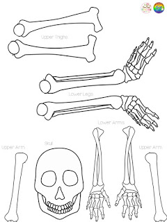Click here to download my FREE skeleton craft!