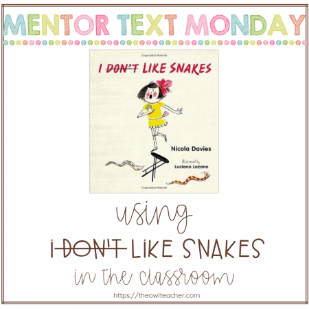 """""""I Don't Like Snakes"""" is a fantastic mix of both fiction and nonfiction elements that will engage your students as you teach about various science ideas."""