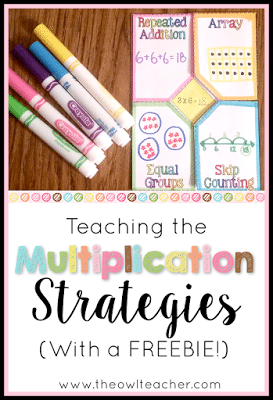 It's imporant that students aren't just memorizing their multiplication facts, but are also learning important multiplication strategies such as arrays, repeated addition, equal grouping, and skip counting. So why not make it engaging with these ideas and activities that you can download for FREE!