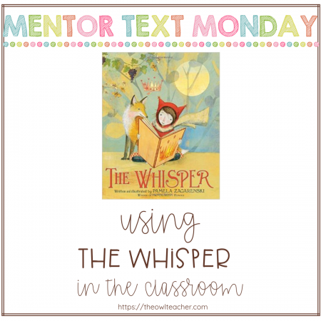 """Engage your students in your elementary classroom with """"The Whisper"""" while teaching about the reading skills of author's purpose, point of view, and more!"""