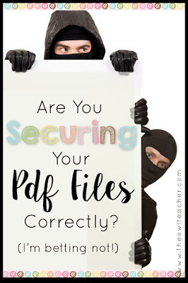Securing PDF's is extremely important so that no one can claim your material as theirs! But are you doing it right? Check out this technology tip to make sure!