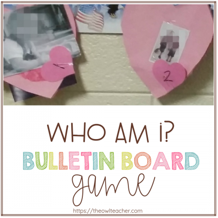 This Valentine's Day game idea turns into an interactive bulletin board that makes a fun and simple game in the elementary classroom! It will definitely engage your students and fellow teachers!