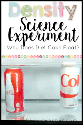 Why does diet coke float and regular coke sinks? Students explore density and buoyancy through this engaging science experiment activity on physical matter!