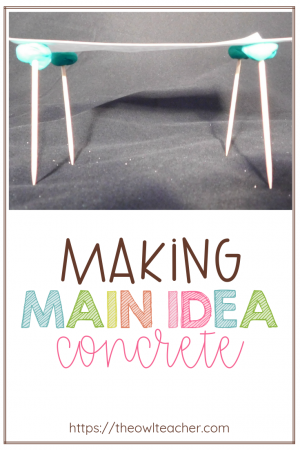 Engage students when teaching the nonfiction reading skill of main idea by using this manipulative and visual tip! This idea will definitely help your students make main idea concrete!